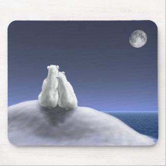 Polar Bears by Moonlight Mouse Pad