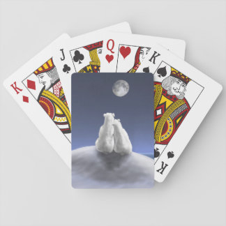 Polar Bears by Moonlight Playing Cards
