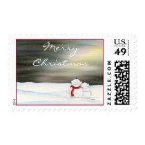 Polar Bears Christmas Postage