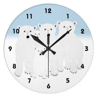 Polar Bears Clock
