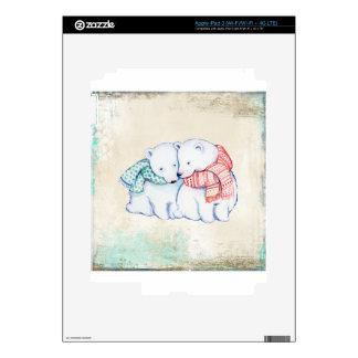 Polar Bears Couple Decal For iPad 3