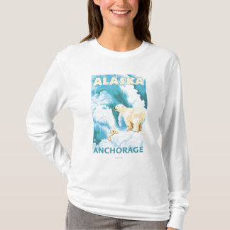 Polar Bears & Cub - Anchorage, Alaska T-Shirt