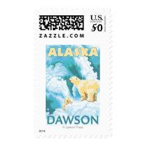 Polar Bears & Cub - Dawson, Alaska Postage