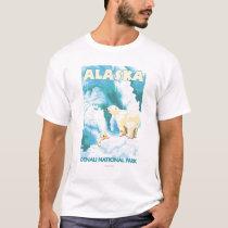 Polar Bears & Cub - Denali National Park, Alaska T-Shirt