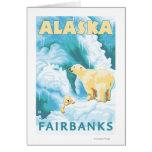 Polar Bears & Cub - Fairbanks, Alaska Greeting Card