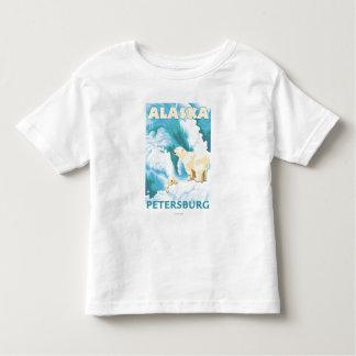 Polar Bears & Cub - Petersburg, Alaska Toddler T-shirt