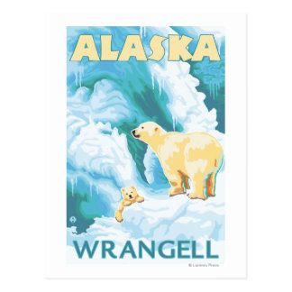 Polar Bears & Cub - Wrangell, Alaska Postcard