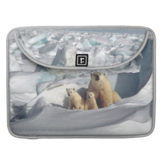 Polar Bears Cubs Arctic Wildlife Macbook Sleeve