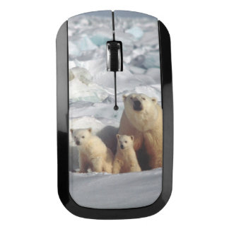 Polar Bears Cubs Arctic Wildlife Wireless Mouse