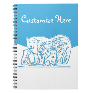 Polar Bears Customized Notebook