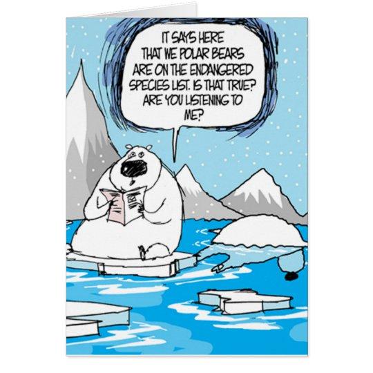 Polar Bears Extinct Christmas Card