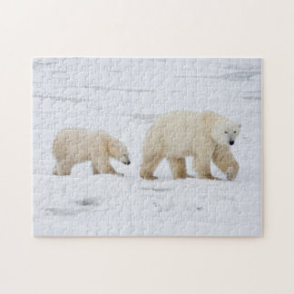 Polar Bears female and Two cubs 2 Puzzle