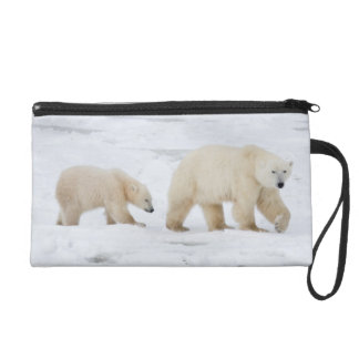 Polar Bears female and Two cubs 2 Wristlet