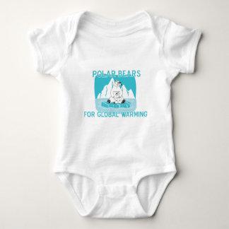 Polar Bears For Global Warming Baby Bodysuit