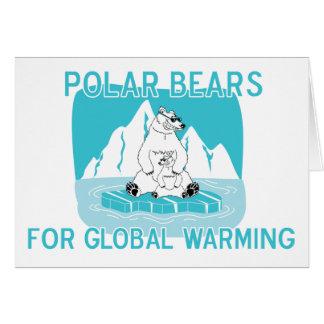 Polar Bears For Global Warming Card