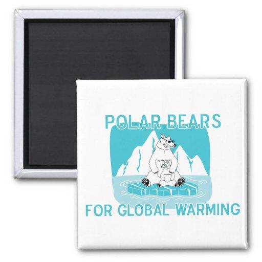 Polar Bears For Global Warming Magnets