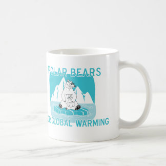 Polar Bears For Global Warming Classic White Coffee Mug