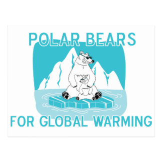 Polar Bears For Global Warming Postcard