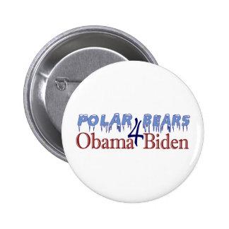 Polar Bears for Obama Biden 2008 Button
