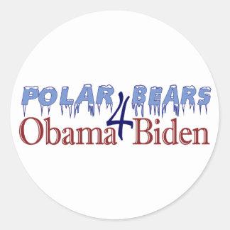 Polar Bears for Obama Biden 2008 Classic Round Sticker