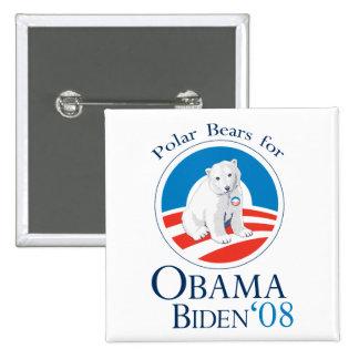 Polar Bears for Obama Button