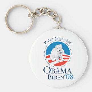 Polar Bears for Obama Keychain