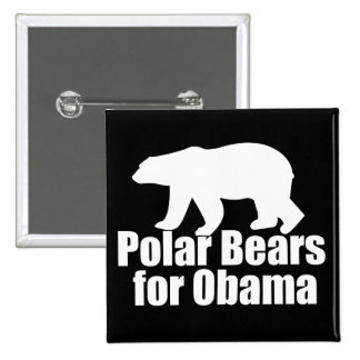 Polar Bears for Obama Pinback Button
