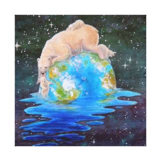 Polar Bears Global Warming Canvas