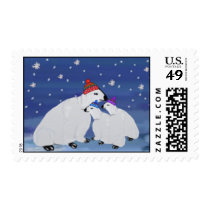 Polar Bears Holiday Postage Stamps