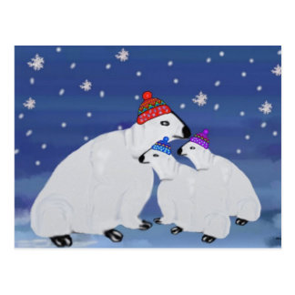 Polar Bears Holiday Postcards