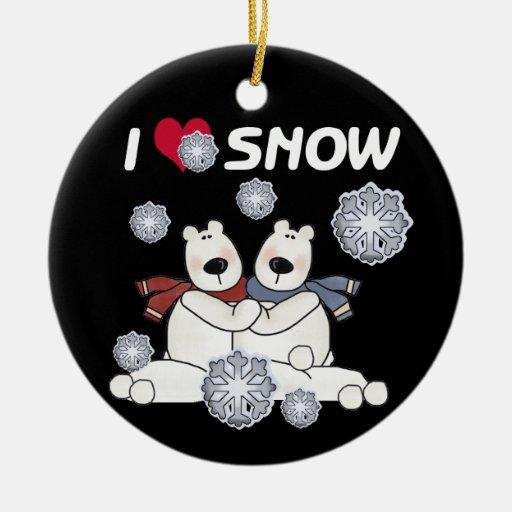Polar Bears I Love Snow Keepsake Ornament