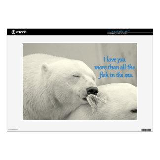 "Polar Bears I Love You More....Design 15"" Laptop Skin"