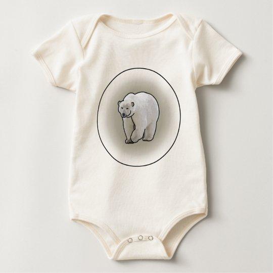 Polar Bears in a Blizzard Baby Bodysuit