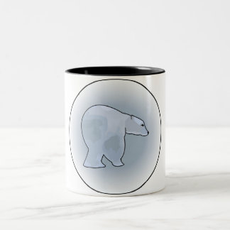 Polar Bears in a Blizzard Two-Tone Coffee Mug