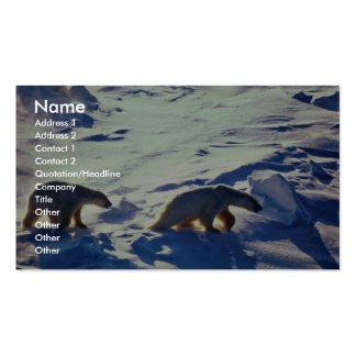 Polar Bears In Cape Lisburne Double-Sided Standard Business Cards (Pack Of 100)
