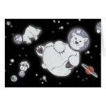 Polar Bears In Space! Greeting Card