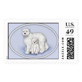 Polar Bears Mom and Baby Postage