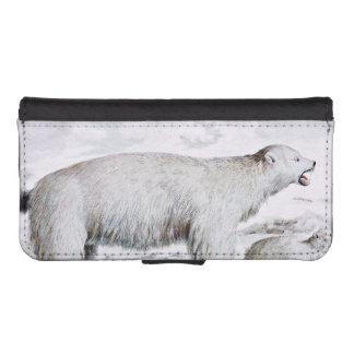 Polar Bears Old Illustration iPhone SE/5/5s Wallet Case