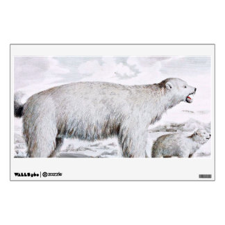 Polar Bears Old Illustration Wall Sticker