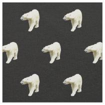 Polar Bears on Black Fabric