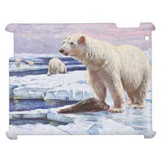 Polar Bears on Ice Floes Art iPad Cases