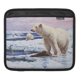 Polar Bears on Ice Floes Art iPad Sleeve