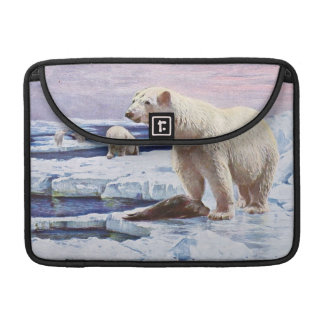 Polar Bears on Ice Floes Art Sleeve For MacBooks