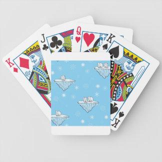 Polar bears on icebergs bicycle playing cards