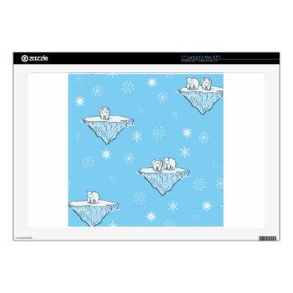 Polar bears on icebergs skins for laptops