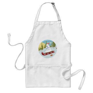 Polar bears on sled adult apron