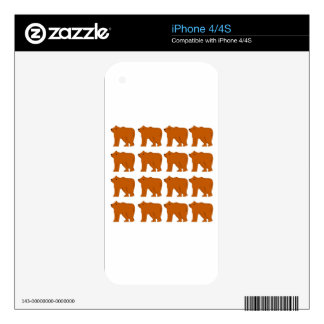 Polar bears on white iPhone 4 decals