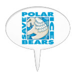 Polar Bears Oval Cake Toppers