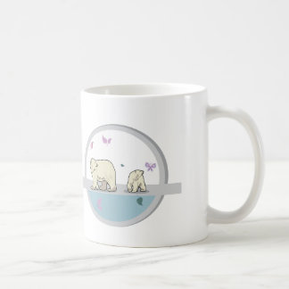 Polar bears- parents and child coffee mug