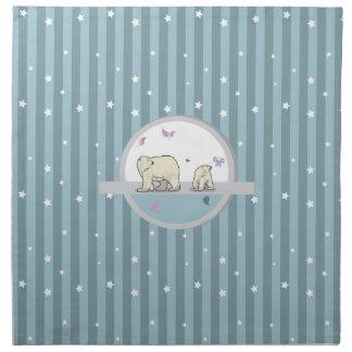 Polar bears- parents and child napkins
